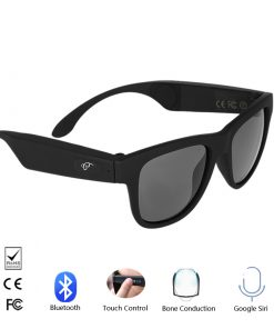 Bone conduction bluetooth smart sunglasses unisex
